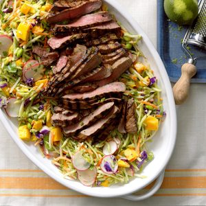 Asian Slaw with Steak