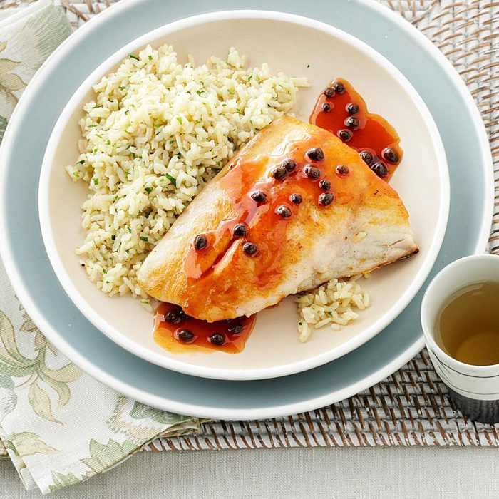 Asian Snapper with Capers