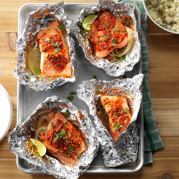 Asian-Style Salmon Packets
