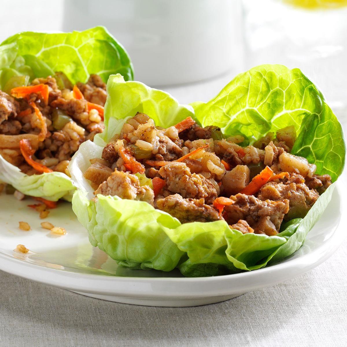 Lettuce Leaves Celery And Turkey Salad On Pinterest: Asian Turkey Lettuce Cups Recipe
