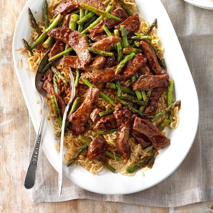 Asparagus Beef Lo Mein