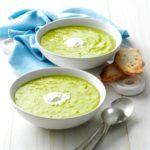 Asparagus Soup with Lemon Creme Fraiche