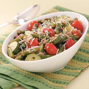 Asparagus and Grape Tomato Salad