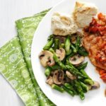 Asparagus and Mushrooms in Lemon-Thyme Butter