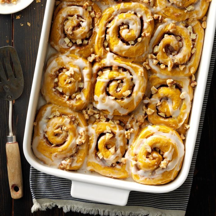 Autumn Sweet Rolls with Cider Glaze