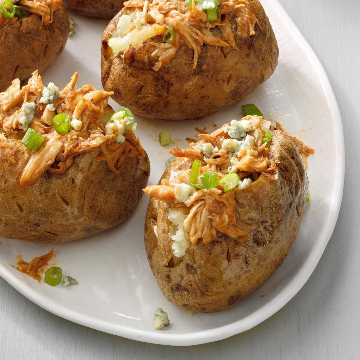 Bbq Chicken Baked Potatoes Recipe How To Make It Taste Of Home