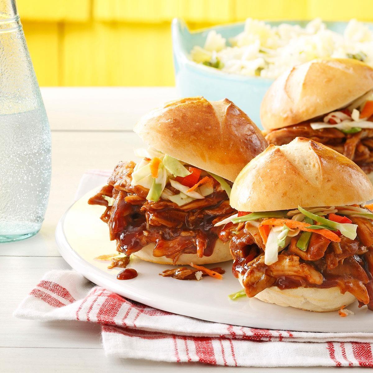Bbq Chicken Sliders Recipe Taste Of Home