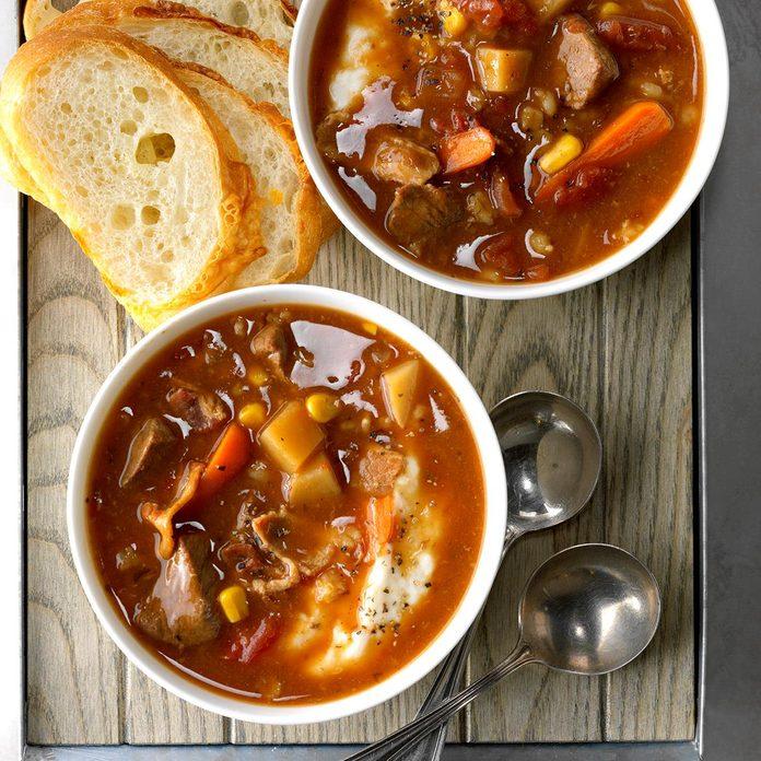 Bacon-Beef Barley Soup