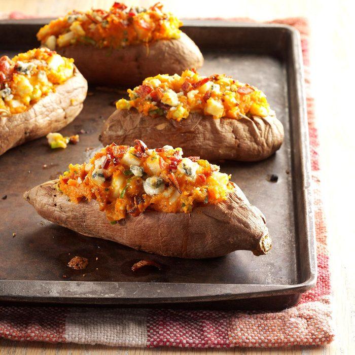 Bacon & Blue Stuffed Sweet Potatoes
