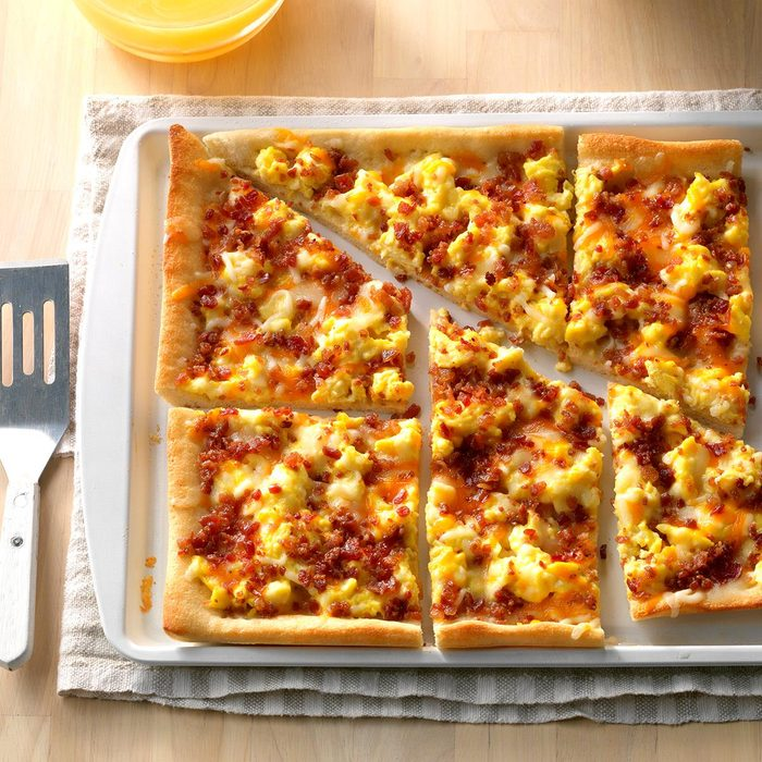 High School Age: Bacon Breakfast Pizza