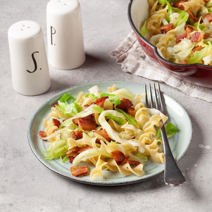 Bacon, Cabbage and Noodles