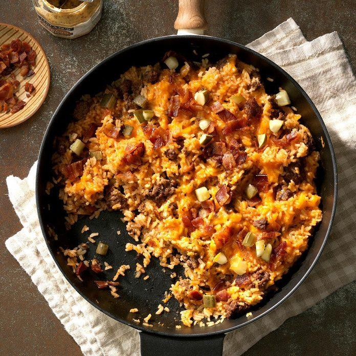 Bacon Cheeseburger Rice