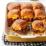 Bacon Cheeseburger Slider Bake