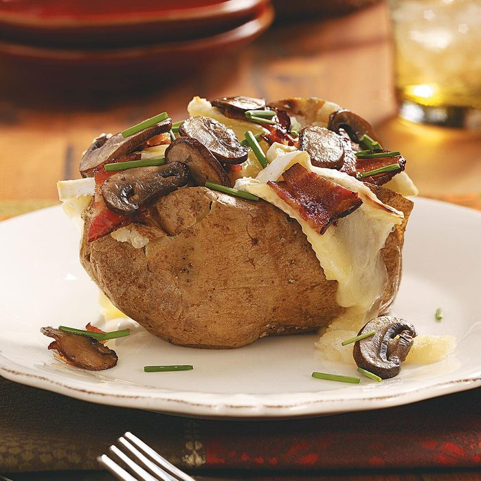 Bacon, Cremini & Brie Potatoes