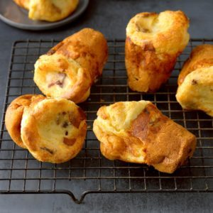 Bacon Parmesan Popovers