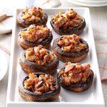 Bacon-Pecan Stuffed Mushrooms