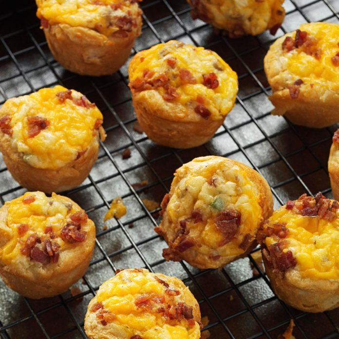 Bacon-Sausage Quiche Tarts
