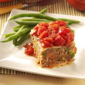 Bacon & Tomato-Topped Meat Loaf