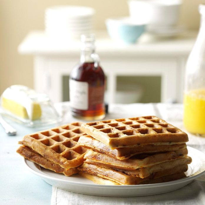 Bacon and Cheese Waffles