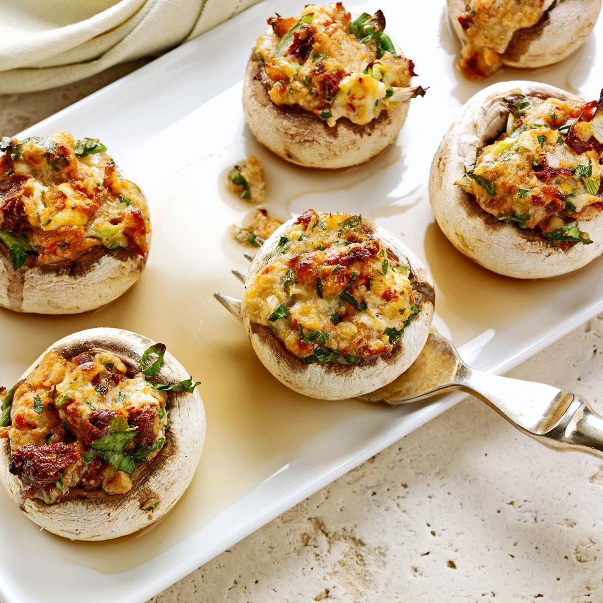 Bacon and Fontina Stuffed Mushrooms
