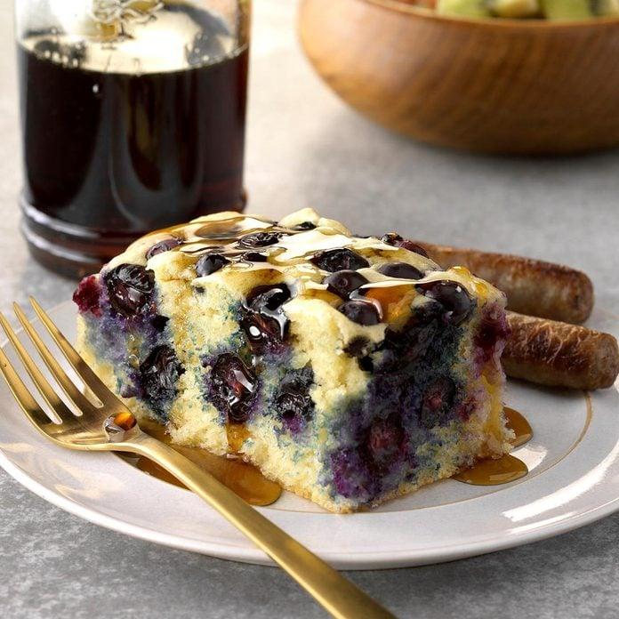 Runner Up: Baked Blueberry Ginger Pancake