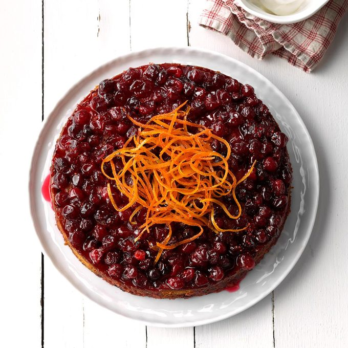 Baked Cranberry Pudding