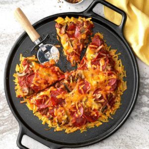 Baked Macaroni N Cheese Pizza