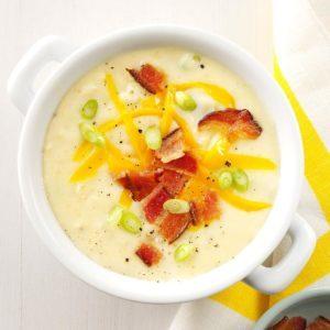Baked Potato Cheddar Soup