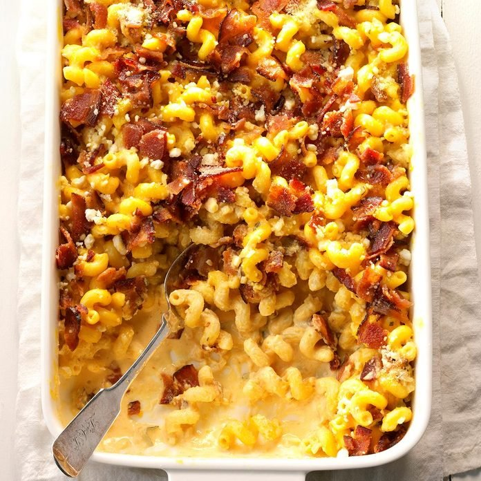 Baked Pumpkin Goat Cheese Alfredo with Bacon