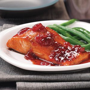 Baked Strawberry Salmon for Two