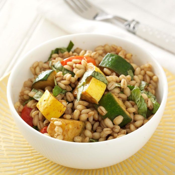 Balsamic Grilled Vegetable and Barley Salad