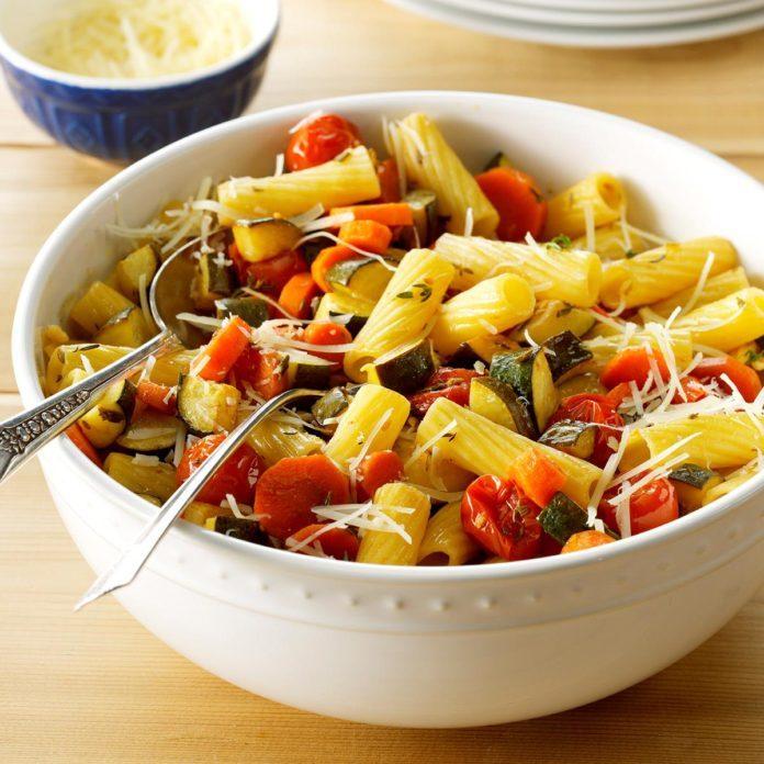 Day 7 Dinner: Balsamic Roasted Vegetable Primavera