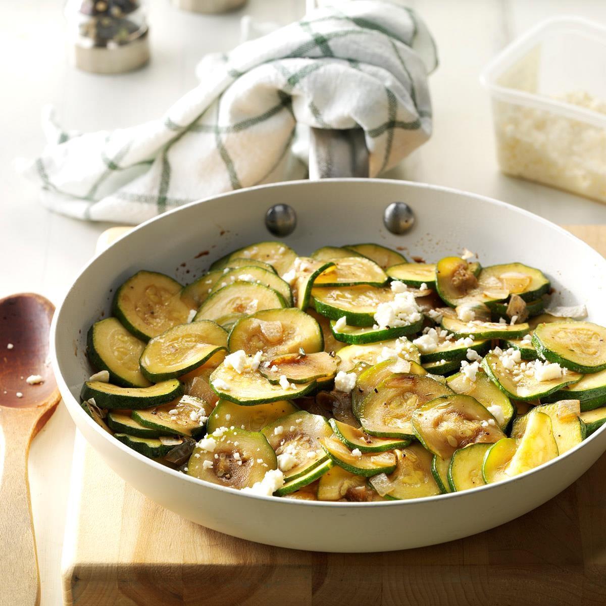Balsamic Zucchini Saute