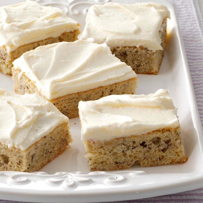 Iowa: Banana Bars with Cream Cheese Frosting