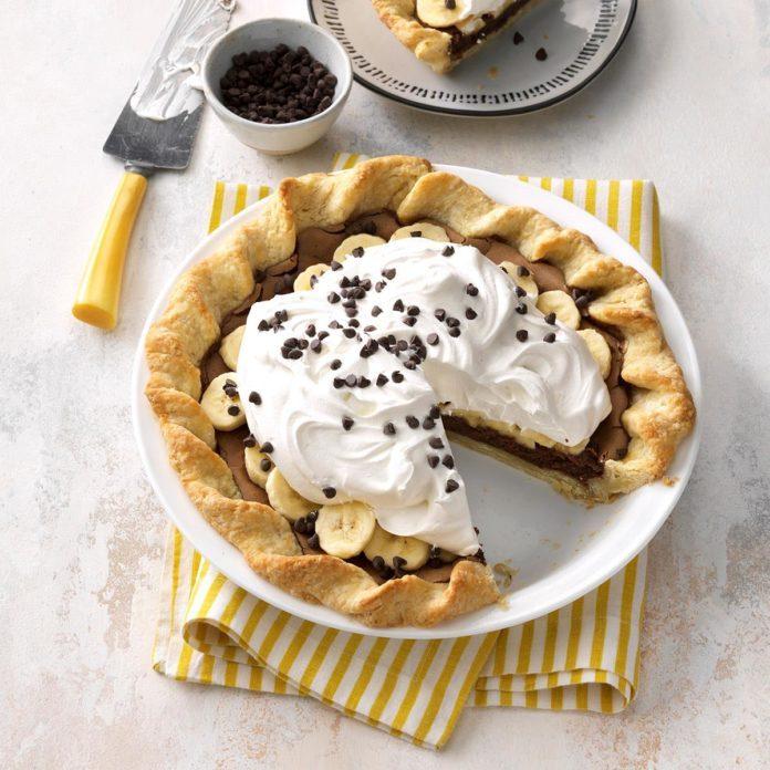 Banana Fudge Pie