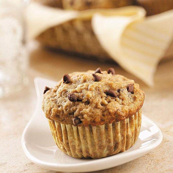 Banana Muffins with Miniature Chocolate Chips