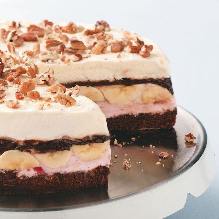 Banana Split Brownie Cake
