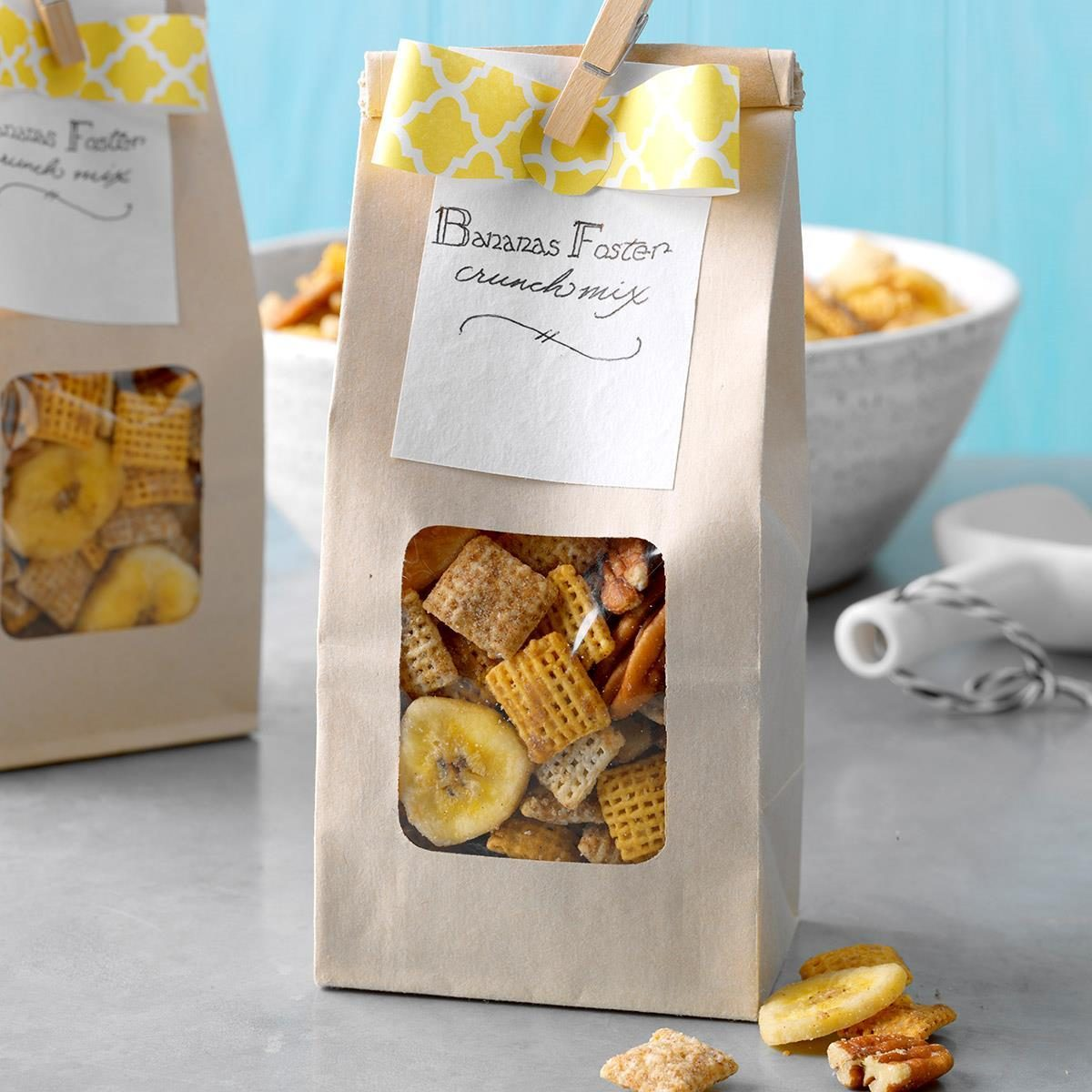 bananas foster crunch mix recipe