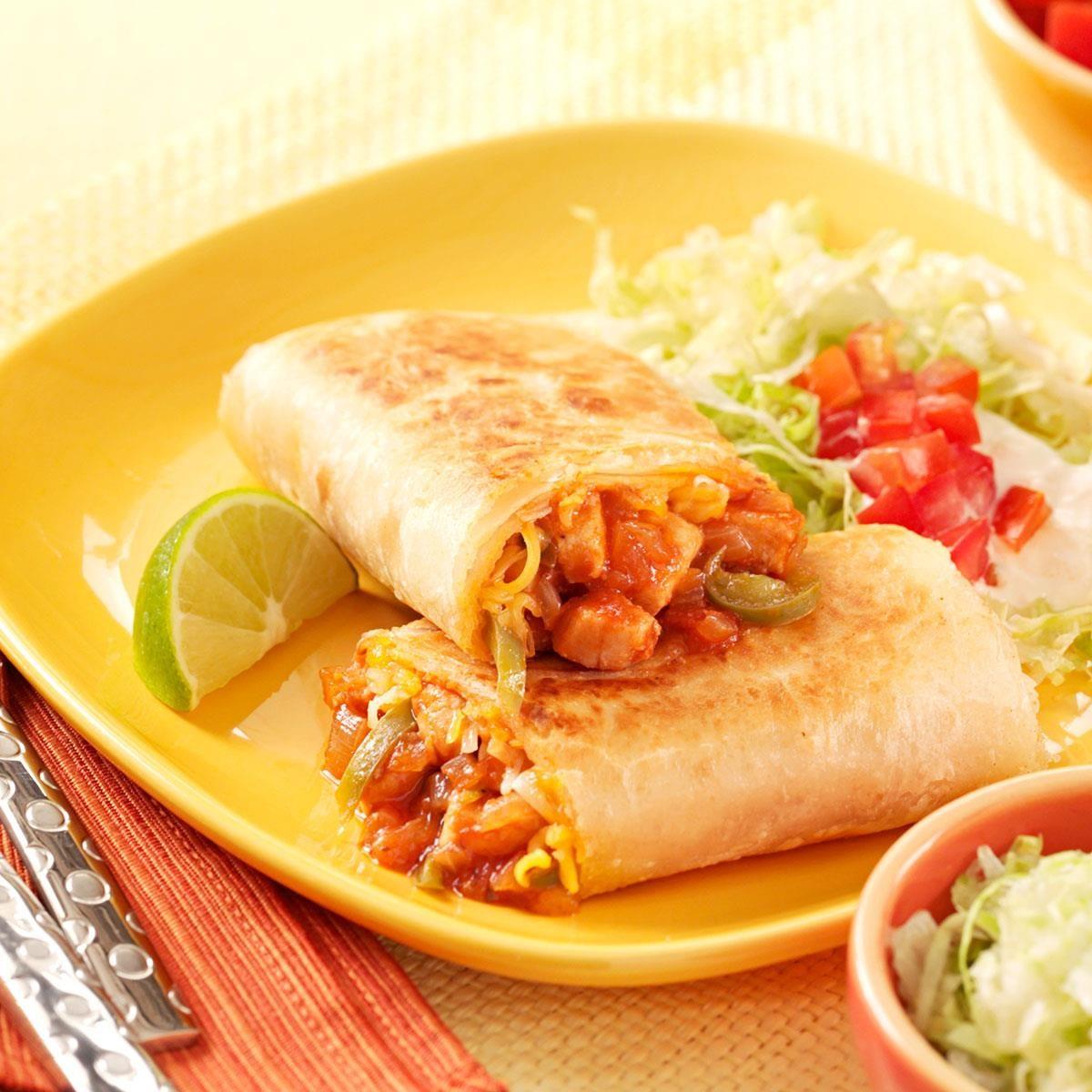 Barbecue Chicken Burritos Recipe Taste Of Home,Jamaican Beef Patties Recipe
