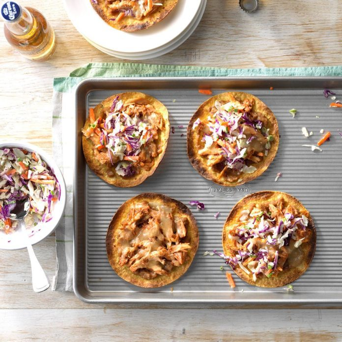 Barbecue Chicken Tostadas