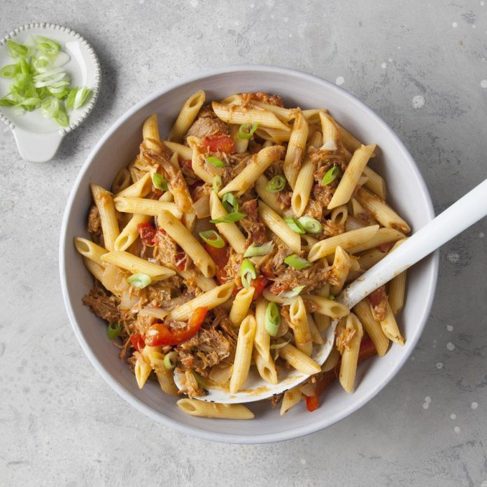Day 12: Barbecue Pork and Penne Skillet