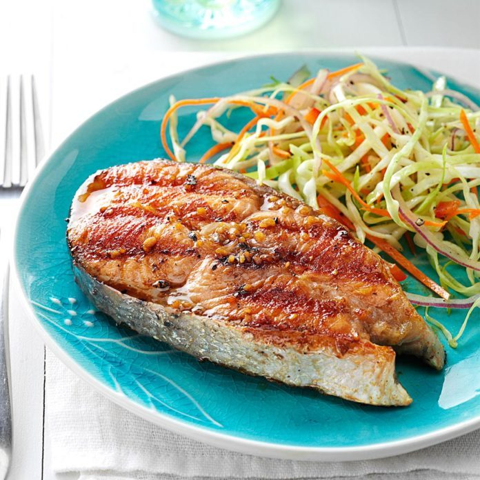 Barbecued Alaskan Salmon