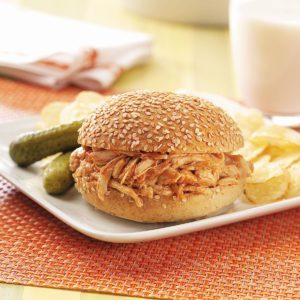Barbecued Chicken Sandwiches