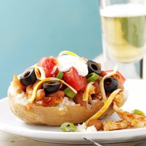 Barbecued Chicken-Stuffed Potatoes
