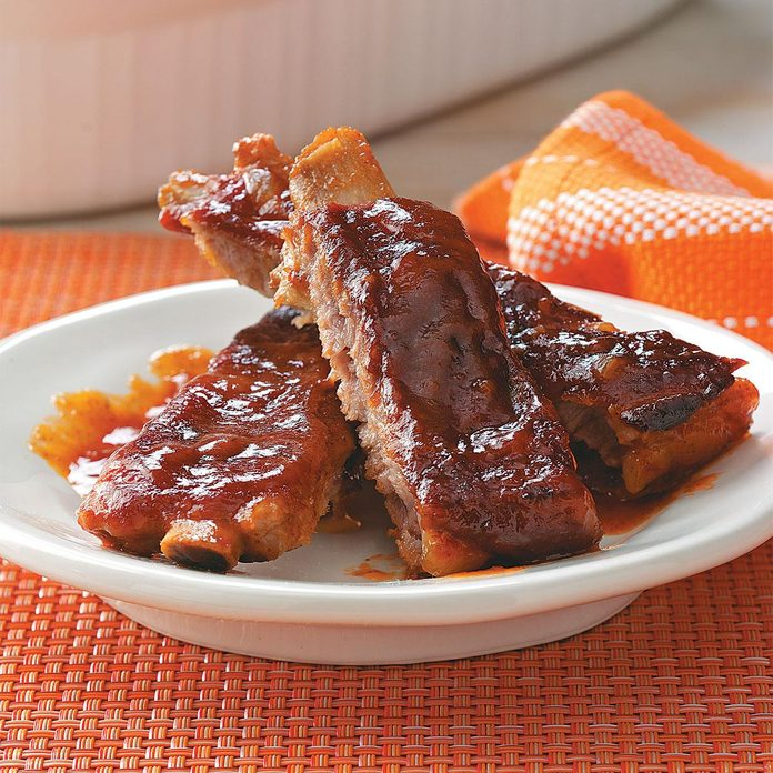 Barbecued Sticky Ribs