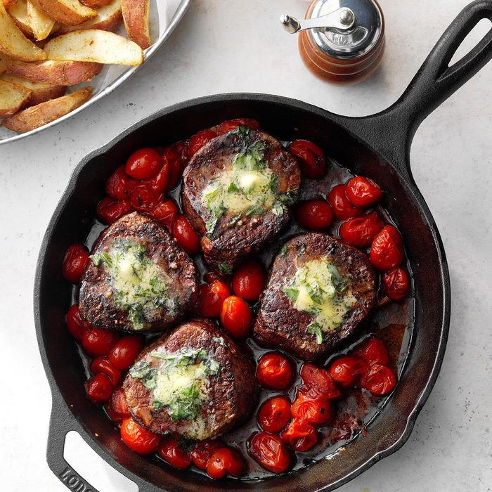 Basil Butter Steaks With Roasted Potatoes Exps Cismz19 119908 E01 03 4b 8