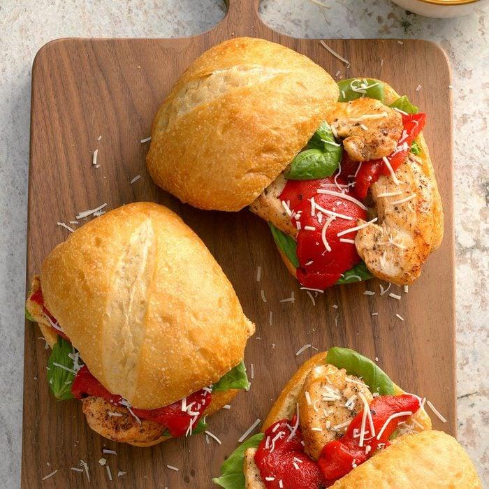 Basil Chicken Sandwiches