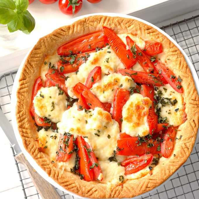 Basil Tomato Tart