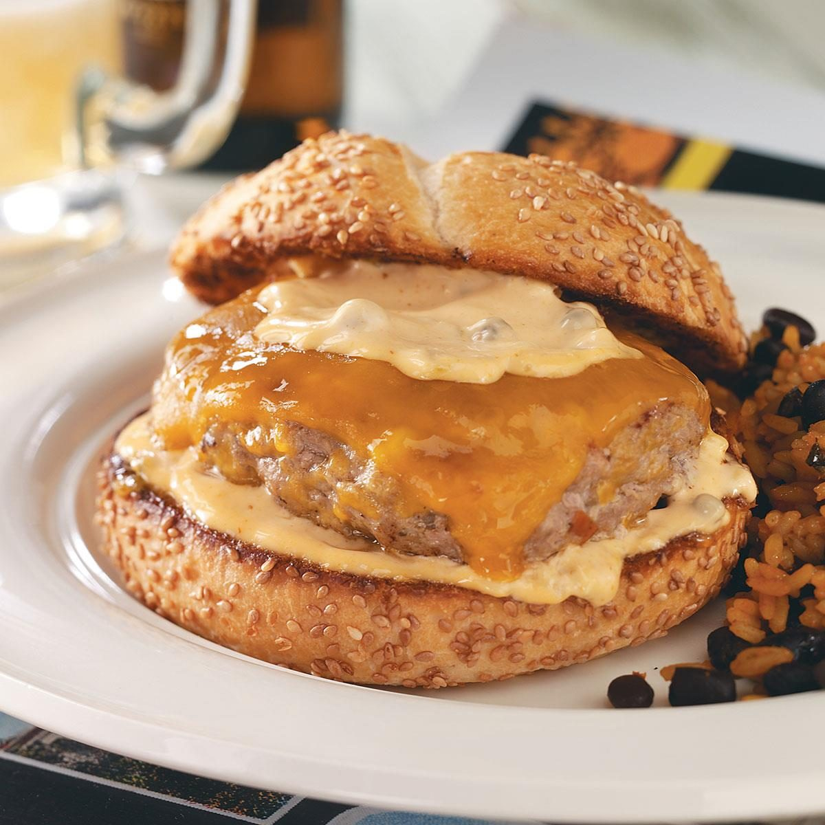 Bayou Burgers with Spicy Remoulade