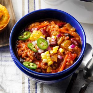 Bean & Bulgur Chili